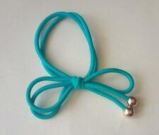New 2pcs Girls Elastic Hair blue bowknot bead Ponytail Bracelets scrunchie 8050