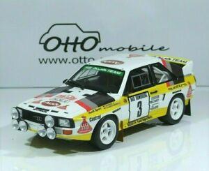 Audi Sport Quattro Walter Röhrl #3 Rallye Monte-Carlo 1985 Gr. B OT820 1:18