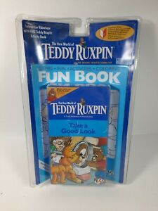 Teddy Ruxpin WOW Take a good look VHS tape with activity book NEW sealed 1998