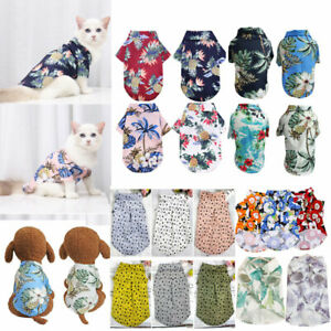 Puppy Cat Dog T Shirt Coat Pet Small Dog Clothes Chihuahua Beach Vest Apparel