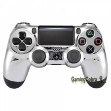 Chrome Silver Design Shell Faceplate for PS4 Pro Slim Remote Controller JDM-040