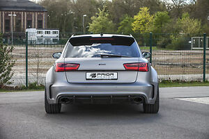 Audi A6 / S6 / RS6 - PD600R Prior-Design Heckstoßstange + Diffusor / rear bumper