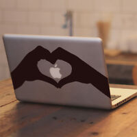 "I Heart Apple for Macbook Air Pro 11 13 15 17"" Laptop Vinyl Decal Sticker"