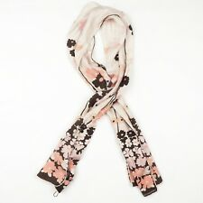 Burberry London 100% Seide Silk Schal Scarf Made in Italy Blumen Flowers Floral