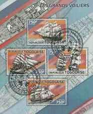 Timbres Bateaux Togo 4016/9 o année 2014 lot 19321 - cote : 17 €