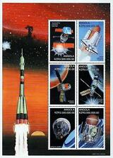 ANGOLA 1999 SPACE RESEARCH =APOLLO 11 & SHUTTLE M/S MNH (STILL WATCHING !!!???)