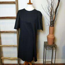 A New Day Womens Black T-Shirt Dress Sz XL Black Stretch Midi Minimalist Chic