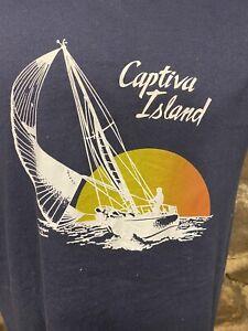 Vintage Captiva Island Sail Boat T Shirt Single Stitch
