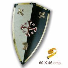Réplica de acero del escudo de los Caballeros de Jerusalen. 69x46 cms.