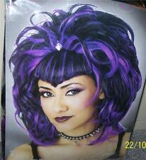 Adulte Sinister Malfaisante Gothique Violet & Perruque Noire Costume MR177154