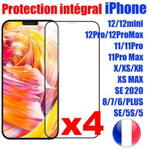 VERRE TREMPE IPHONE VITRE PROTECTION ECRAN INTEGRAL 11 12 PRO MAX SE 6 7 8 X XR