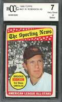 1969 topps #421 BROOKS ROBINSON AS baltimore orioles BGS BCCG 7