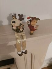 Christmas Reindeer Ornaments X 2