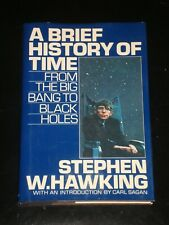 A BRIEF HISTORY OF TIME by Stephen Hawking (1988, Hardcover) BOOK CLUB SIZE
