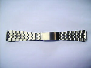 Stainless Steel watch arm band 16mm-22mm NOS Vintage Sixties Bracelet 5 Link