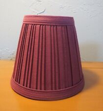 "Clip-On Pleated Fabric Lamp Shade Chandelier Mini Table Lamps Empire 4"" Burgundy"