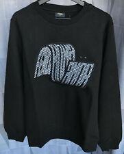 Balenciaga Sweater Men's Italy Cotton Crewneck Black  Embrodied Eyes Italy