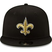 NEW ORLEANS SAINTS New Era 9Fifty Hat Cap Adjustable New Brees Black