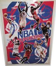 2004 COSTACOS NBA SUPERSTARS LEBRON JAMES ALLEN IVERSON SHAQ + POSTER NEW 22x34