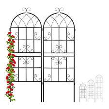 Rankgitter Metall 2er Set Rosen Rankhilfe Kletterpflanzen Blumengitter Rankzaun
