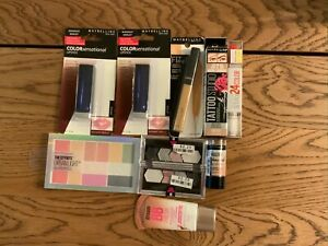 Maybelline Lot of 10 Pieces New in Box.