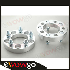 2PC 25mm 5x4.5 Wheel Spacers 1 Inch 5x114.3 Adapters 12x1.5 Studs Billet