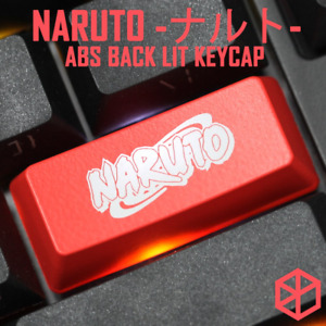 NOVELTY SHINE THROUGH KEYCAPS ABS ETCHED BLACK RED ESC THE SHARINGAN NARUTO