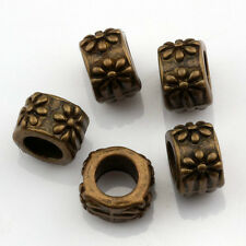 20 pc Antique bronze Style Carved Loose Spacer Beads Fit Charms Bracelet  5.5x8m