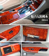 For Honda Accord Sedan 2013-2015 Wood Grain Door+Gear Panel+Dash Trim Kit 14Pcs