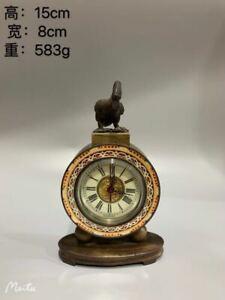 Exquisite Brass Classical Mechanical Clock Goose Table Clock AP359