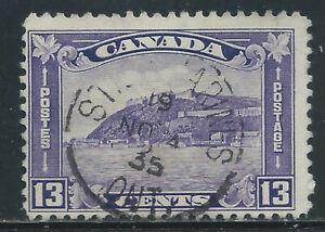 Canada #201(6) 1932 13 cent dull violet QUEBEC CITADEL ST. CATHERINES CV$5.00