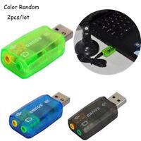 Virtual 5.1 USB 2.0 External Mic/Speaker Audio Sound Card Adapter GG