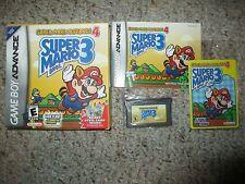 Super Mario Advance 4 Bros. 3 (Nintendo Game Boy Advance) Complete GBA W/ Card