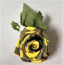 Clan McLeod Handcrafted Tartan Rose Wedding Flower Scottish Buttonhole Corsage