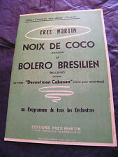 Partitur Noix de Coco Bolero Brasilianisch Fred Martin