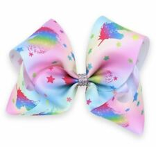 Unicorn Style 5  Hair Bows Girls Diamante Hair Clip Accessories 20cm EDC18
