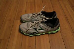New Balance Minimus Sport Spikeless Golf Shoes Mens 12 D Light Grey Neon NBG1001