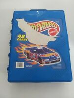 Vintage 1999 Mattel Hot Wheels - 48 Car Carry Case FULL WITH 48 80s&90s CARS