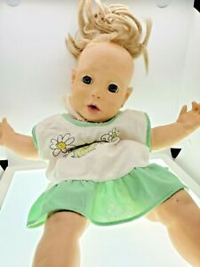 "VINTAGE 1984 HASBRO REAL BABY DOLL JUDITH J TURNER 20""  CRAZY HAIR"