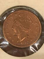 1863 M. L. Stewart Wholesale and Retail Grocer - Owosso Michigan Civil War Token