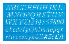 20mm Italic Font Stencil Template upper/lower case alphabet + numbers cheapest