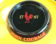 Vintage Red Rooster John Courage 1787 Pale Ale Beer Ashtray Metal Uk 1980s