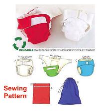Kwik Sew K3690 Pattern Diapers, Diaper Cover, Insert & Bags XS-XL BN