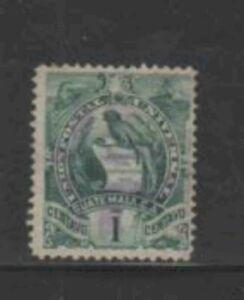 GUATEMALA #31 1886 1c NATIONAL EMBLEM F-VF USED b