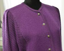 NWT Geiger Sz 40 Large Wool Purple Silver Metal Buttons Jacket Blazer Austria