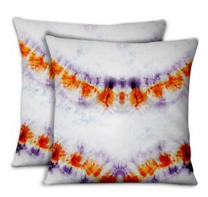 S4Sassy Shibori Decorative Throw Square Pillow Case 2Pcs-TD-19D