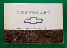 1994 94 Chevrolet Camaro Owners Manual, Near New, F32D