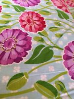 Fat Quarter Zinnia Garden In Sky Cotton Quilting Fabric - Michael Miller