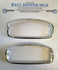 MG Midget Chrome Sidelamp Rims (pair) 57H5155 (chrome bumper cars)