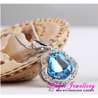 Silver Pendant With Swarovski Crystal Elements Jewelry Necklace Women Gift